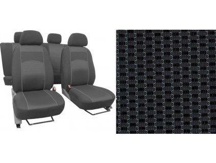 Autopotahy CITROEN C3 AIRCROSS, se zadní loketní opěrkou, od r. 2017, VIP šedé