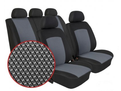 Autopotahy KIA CEED, II, bez zadní loketní opěrky, od r. 2012, Dynamic šedé