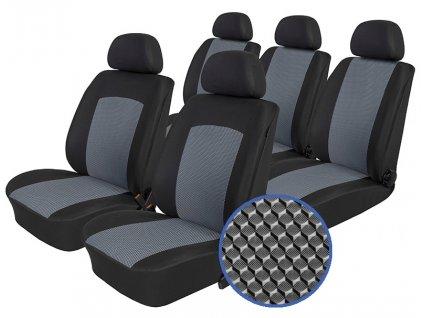 Autopotahy FIAT DOBLO III, 5 míst, od r. 2009, Dynamic šedé
