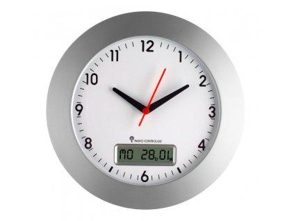 Nástěnné analogové DCF hodiny TFA 98.1092 s kalendářem