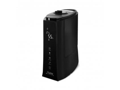 Ultrazvukový zvlhčovač vzduchu s ionizátorem a možností aromaterapie Airbi TWIN - černý