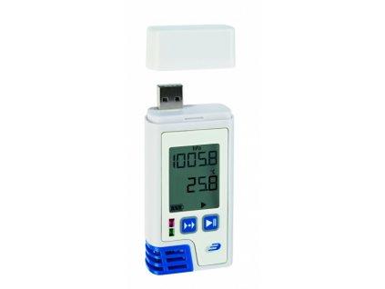 USB Datalogger s displejem pro měření teploty, vlhkosti a tlaku s PDF výstupem - TFA 31.1059.02 LOG220