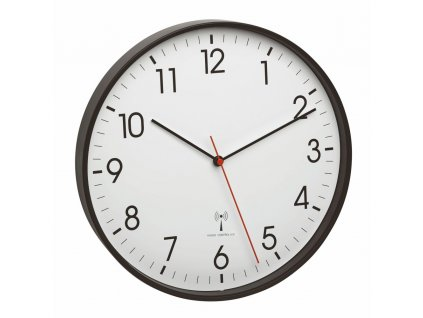 Nástěnné hodiny řízené rádiovým signálem TFA 60.3537.01 - černé