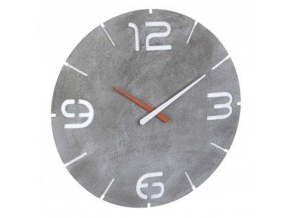 Nástěnné hodiny s rádiově řízeným časem TFA 60.3536.15 CONTOUR - beton