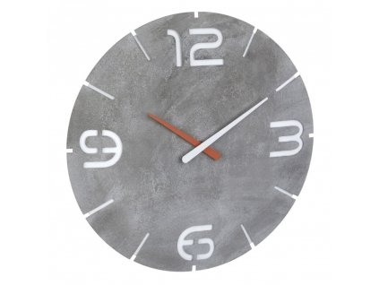 TFA 60.3536.15 - Nástěnné hodiny s rádiově řízeným časem  CONTOUR - beton