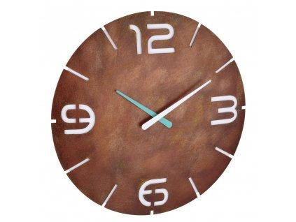 Nástěnné hodiny s rádiově řízeným časem TFA 60.3536.08 CONTOUR - rezavé