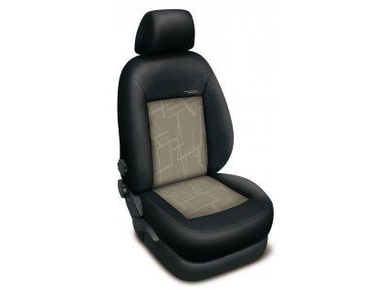 Autopotahy Peugeot 407, bez zadní loketní opěrky, AUTHENTIC PREMIUM, matrix béžový