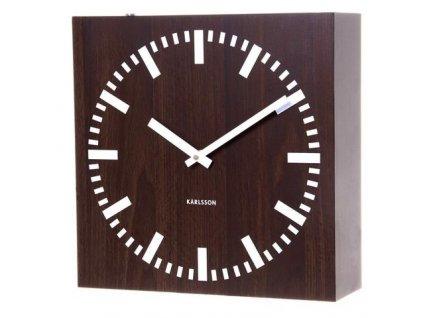 Oboustranné nástěnné hodiny Karlsson 5529 wenge 30cm