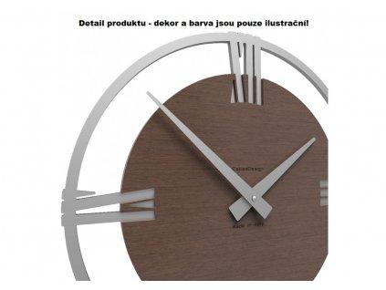 Designové hodiny 10-031n natur CalleaDesign Sirio 38cm (více dekorů dýhy) Dýha šedý kořen - 84