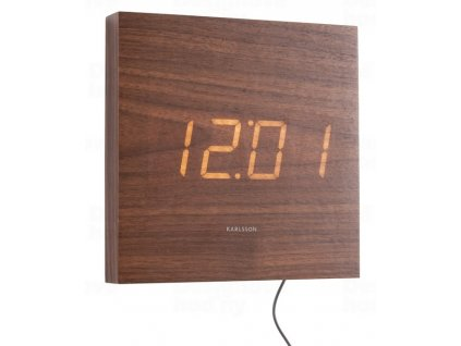 Designové LED nástěnné hodiny 5804DW Karlsson 20cm