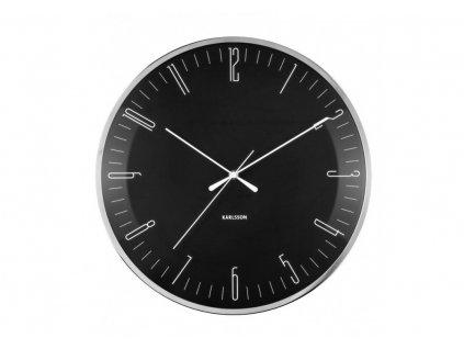 Designové nástěnné hodiny 5754BK Karlsson 40cm