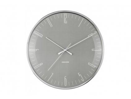 Designové nástěnné hodiny 5754GY Karlsson 40cm