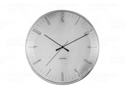 Designové nástěnné hodiny 5755 Karlsson 40cm (nerez)