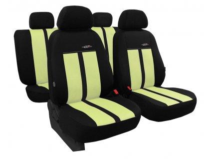 Autopotahy kožené GTR béžovočerné
