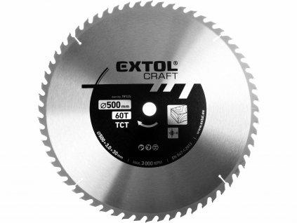 Kotouč pilový s SK plátky, 600x3,0x30mm, 60T, šířka SK plátku 3,8mm EXTOL-CRAFT