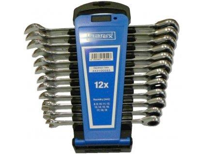Sada klíčů 12dílná ráčnových plast. držák DIN3113, Narex, 443100593