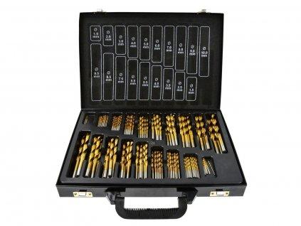 Sada titanových vrtáků HSS do kovu 170ks 1.0 - 10mm KELTIN