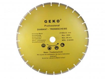 Diamantový řezný kotouč segmentový, 400x8x32mm GEKO