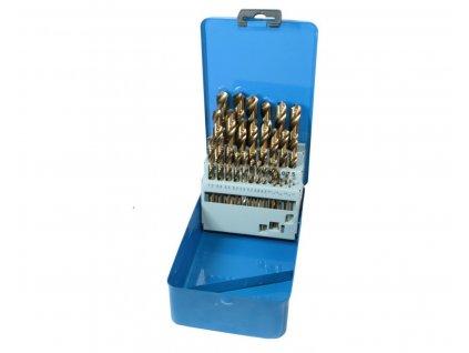 Sada vrtáků HSS do kovu, 1.5 mm - 13 mm, 29 kusů QUATROS
