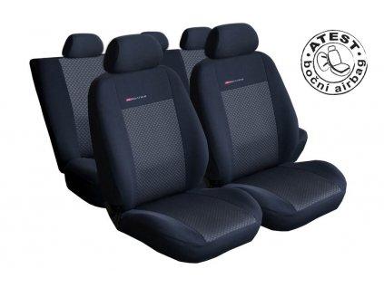 Autopotahy Fiat Panda III, 5 míst, NEDĚLENÉ ZADNÍ SEDAČKY, od r. 2011, černé