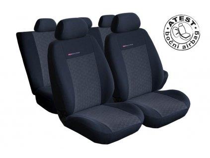 Autopotahy Seat Ibiza IV, DĚLENÁ, od r. 2008, antracit
