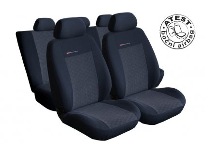 Autopotahy VW Golf VI, dělené zadní opěradlo a sedadlo, zadní lok. op.,od r.2008, antracit