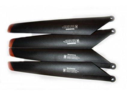 9053-04, listy rotoru sada 2xA, 2xB (4ks) délka 25cm