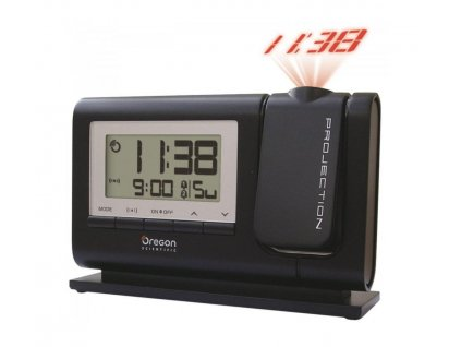 Digitální budík s projekcí a časem řízeným DCF signálem Oregon Scientific RM308PX Black