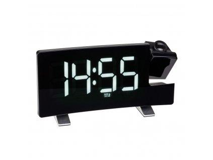 TFA 60.5015.02 - Digitální budík s projekcí, rádiem a možností nabíjení - bílé LED číslice