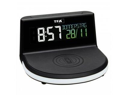 TFA 60.2028.01 - Digitální budík s možností bezdrátového nabíjení CHARGE-IT WIRELESS