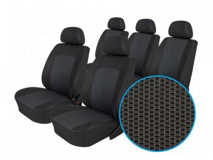 Autopotahy FIAT DOBLO III, 5 míst, od r. 2009, Dynamic grafit