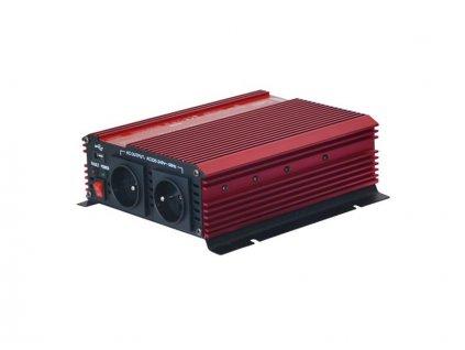 Měnič napětí Geti GPI 1012 12V/230V 1000W USB