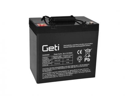 Baterie olověná 12V 55Ah Geti pro elektromotory