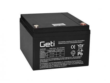 Baterie olověná 12V 30Ah Geti pro elektromotory