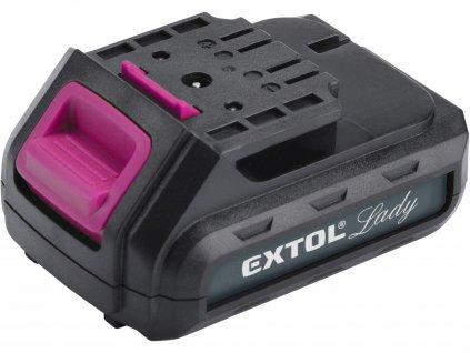 Baterie akumulátorová 12V, Li-ion, 1300mAh EXTOL-LADY