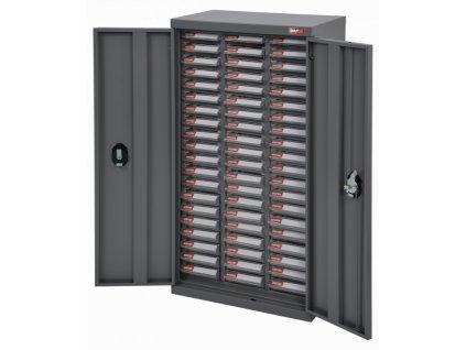 Galvanizovaný kovový organizér pro dílenský materiál a díly s 60 zásuvkami - A6-360PD