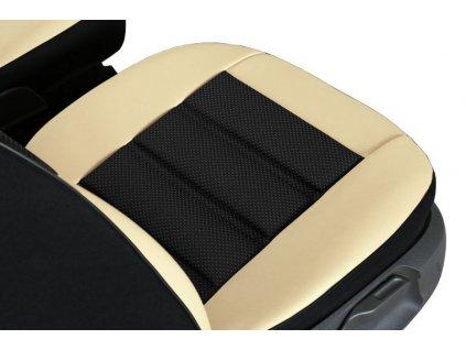 Ergonomický potah na 1 sedadlo GT ERGONOMIC LEATHER, béžový