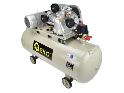 """Olejový vzduchový """"V"""" kompresor tříválcový, řemenový, 200 l, 400V"""