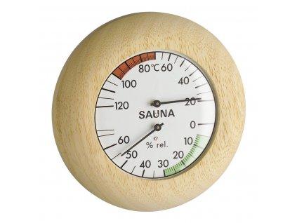 Kombinace (teploměr + vlhkoměr) do sauny TFA 40.1028