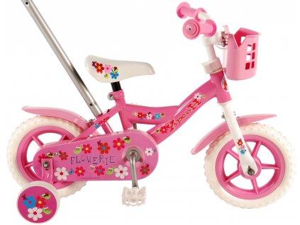 """Volare Flower Dětské kolo 10 """"- Pink / White"""