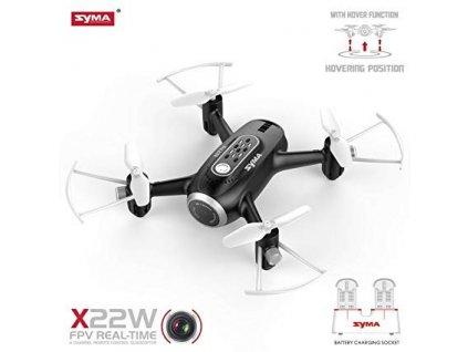 Syma X22W černá, WIFI kamera, RTF set