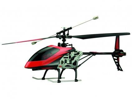 BUZZARD jednorotorový vrtulník se stabilizací, 4ch, RTF, 2,4 GHz, červený