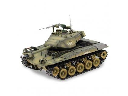 Tank M41 WALKER BULLDOG 2,4 Ghz 1:16, RTR, kovové pásy, kouřový a zvukový modul