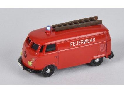 CARSON VW T1 Van Fire Truck 1:87 MAJÁKY SIRÉNA PROPORCIONÁLNÍ