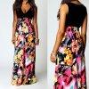 Dlouhé letní květované šaty AKCE až 2XL