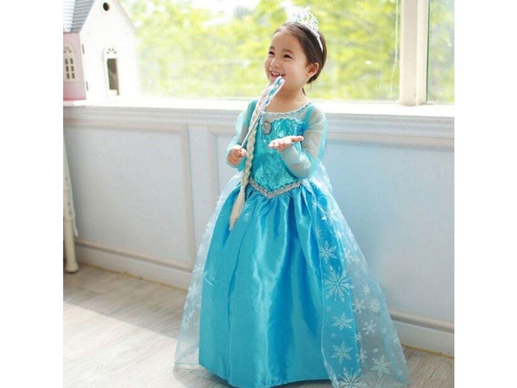 f8eecb9fae88 Dětské dívčí společenské princeznovské modré šaty na ples - FLARO.CZ