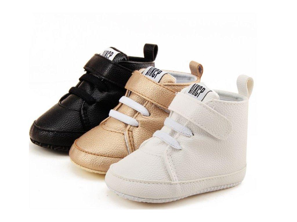 Dětské boty- capáčky pro nejmenší černé 0e100677f7