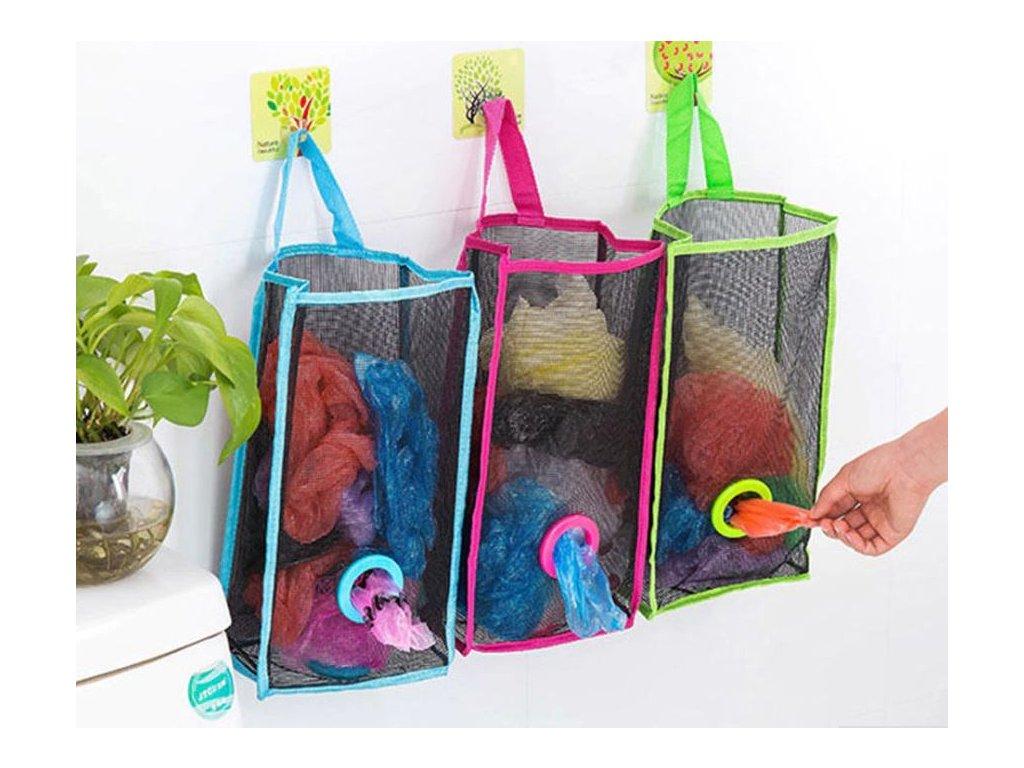 b6abb070a9 Kuchyně- závěsný organizér na igelitové tašky 3 barvy- VÝPRODEJ SKLADU