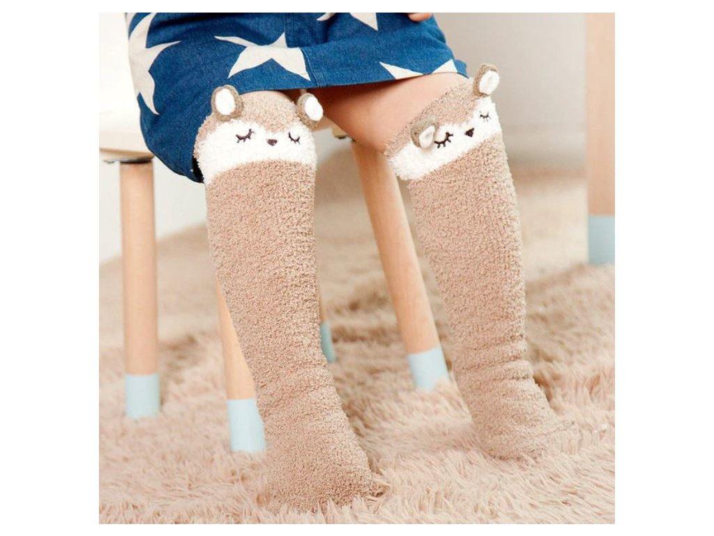 ... Dětské oblečení- krásné teplé dlouhé ponožky s motivem 8f246e8ea7