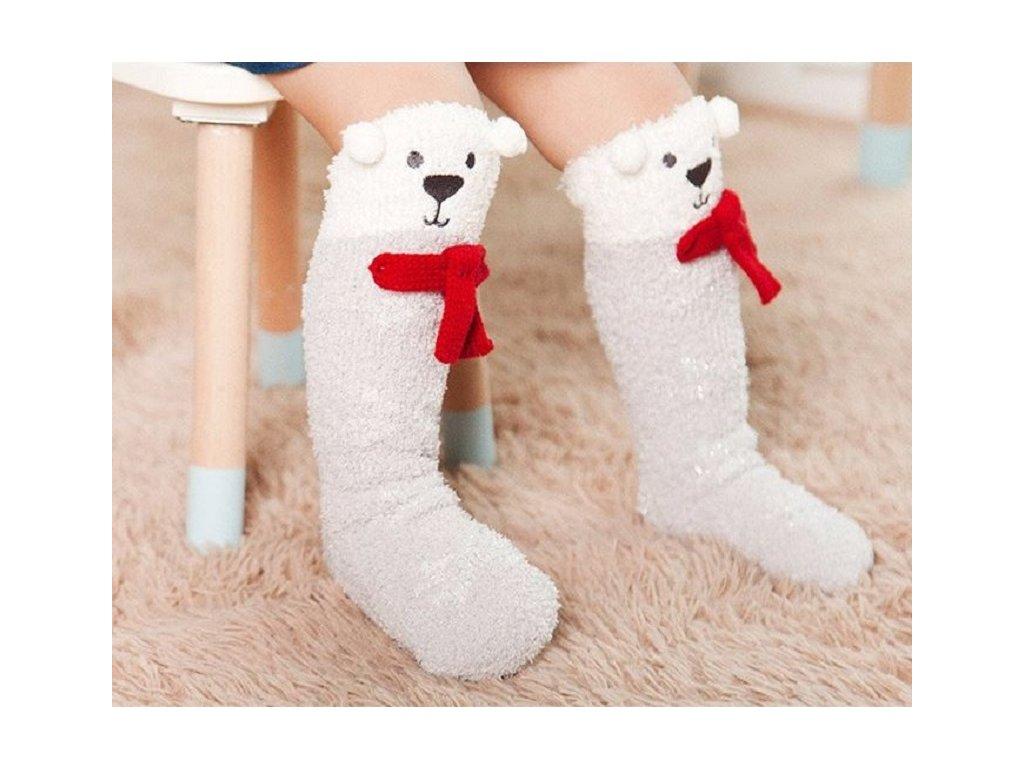 Dětské oblečení- krásné teplé dlouhé ponožky s motivem f93b32034c